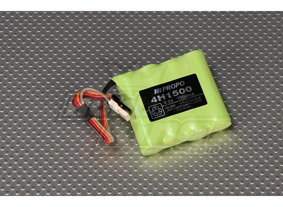 JR AAの1500mAhレシーバーバッテリーのNi-MH 4.8V(新バージョン)