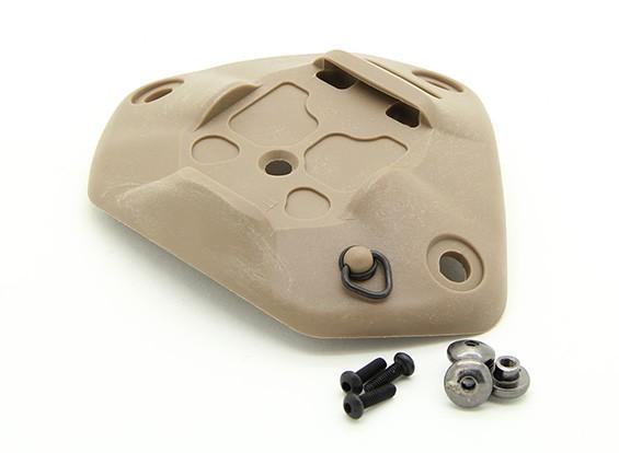 FMAヘルメットプラスチックNRTユニバーサルシュラウド(ダークアース)