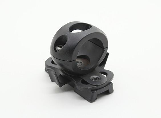 レール付きヘルメット用のマウントFMA 20ミリメートル懐中電灯(ブラック)