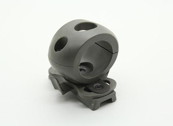 FMA 25ミリメートル懐中電灯レール付きヘルメット(葉緑)用のマウント