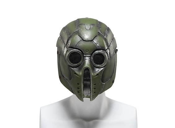 FMAワイヤーメッシュフルフェイスマスク(グリーンモンスター)
