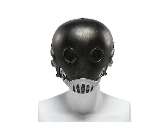 FMAワイヤーメッシュフルフェイスマスク(地獄ジャズ、ゴールデン版)