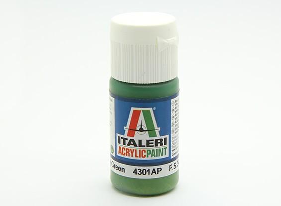 イタレリアクリルペイント - フラットインテリアグレーグリーン