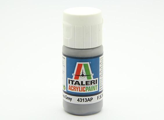 イタレリアクリルペイント - フラットミディアムシーグレイ