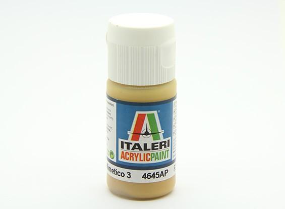 イタレリアクリルペイント - フラットGIALLO Mimetico 3