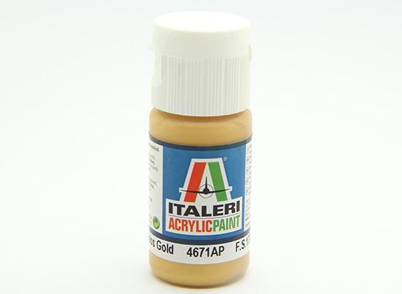 イタレリアクリル塗料 - 金属光沢ゴールド