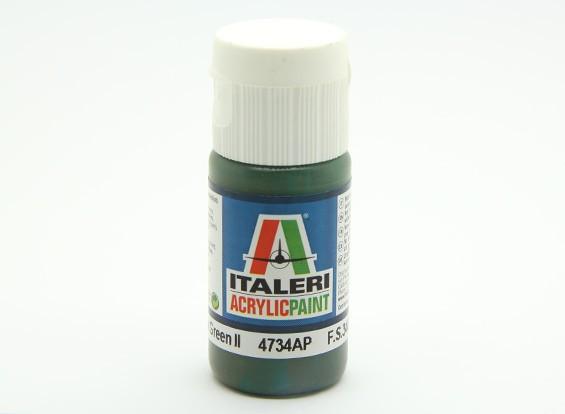 イタレリアクリルペイント - フラットミディアムグリーン2