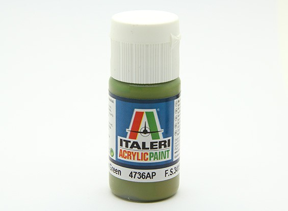 イタレリアクリルペイント - フラットインテリアグリーン