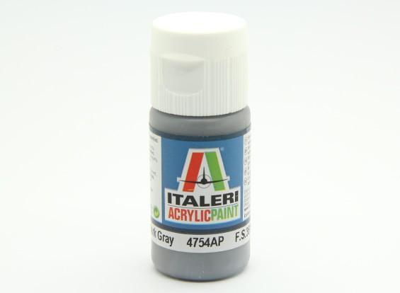 イタレリアクリルペイント - フラットダークグレイ
