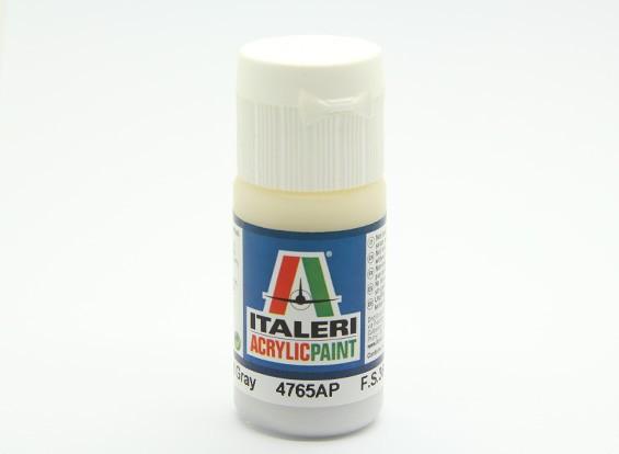 イタレリアクリルペイント - フラットライトグレー