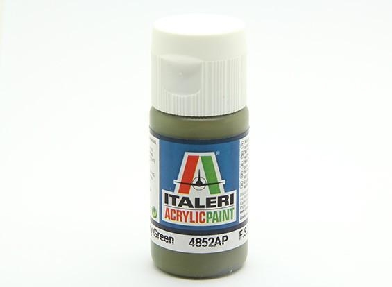 イタレリアクリルペイント - フラットミリタリーグリーン