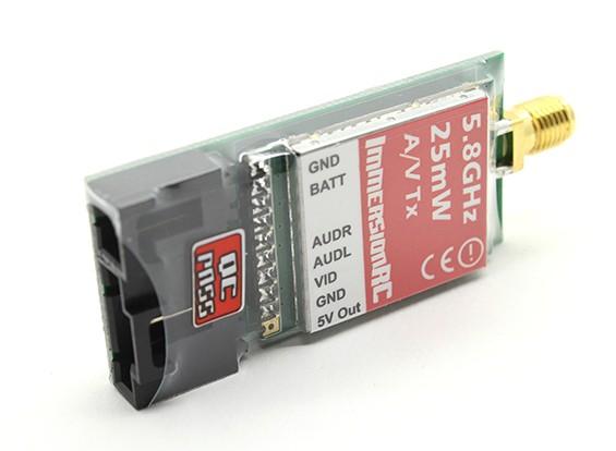 ImmersionRC 5.8GHz帯25MWビデオトランスミッターA CE認定NexwaveRF搭載ビデオリンク(Fatshark)