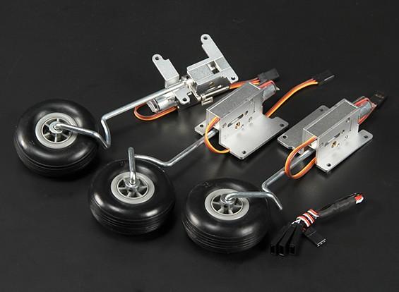 Turnigy 90度すべての金属三輪車リトラクトシステムワット/ 3ミリメートルワイヤーレッグ(3キロAUWマックス)
