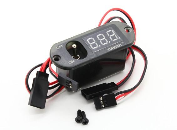 Turnigy 3機能CDIリモート・マスター - 電圧表示 - 受信スイッチ(無BEC)