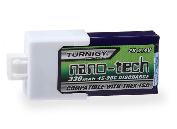 アラインT-Rexの150 DFC用Turnigyナノテクノロジー330mah 2S 45〜90Cリポパック