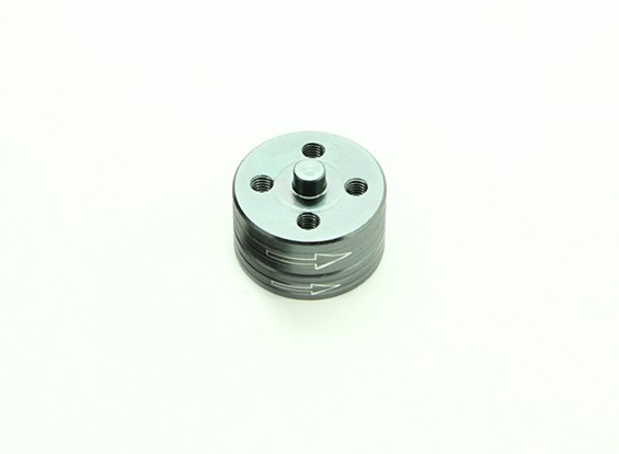 CNCアルミクイックリリース自己締め付けプロップアダプターセット - チタン(時計回り)