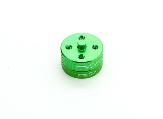 CNCアルミクイックリリース自己締め付けプロップアダプターセット - グリーン(時計回り)
