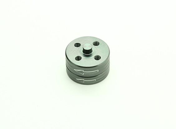 CNCアルミクイックリリース自己締め付けプロップアダプターセット - チタン(反時計回り)