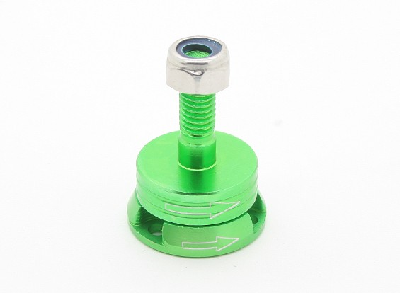 CNCアルミM6クイックリリース自己締め付けプロップアダプターセット - グリーン(時計回り)