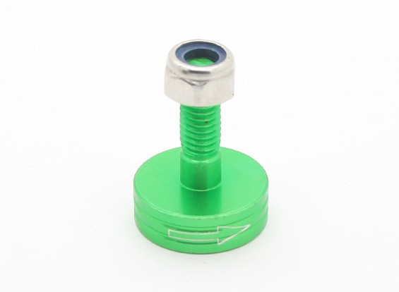 CNCアルミM6クイックリリース自己締め付けプロップアダプター - グリーン(プロップサイド)(時計回り)