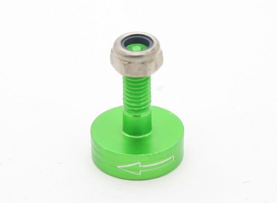 CNCアルミM6クイックリリース自己締め付けプロップアダプター - グリーン(プロップサイド)(反時計回り)