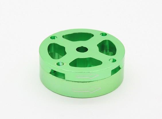 CNCアルミM10クイックリリース自己締め付けプロップアダプターセット - グリーン(反時計回り)