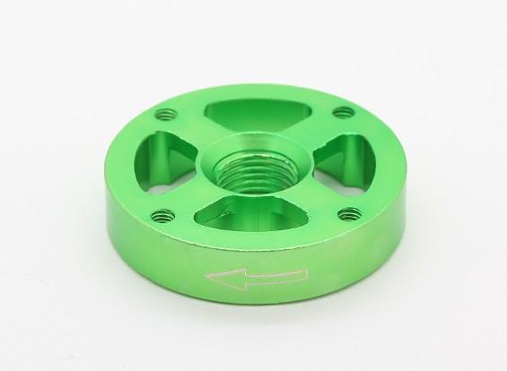 CNCアルミM10クイックリリース自己締め付けプロップアダプター - グリーン(プロップサイド)(時計回り)