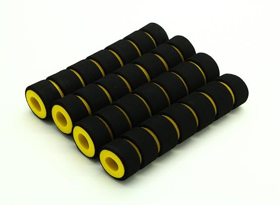泡スキッド首輪黄色を吸収マルチローターショック/ブラック(108x23x10mm)(4本)