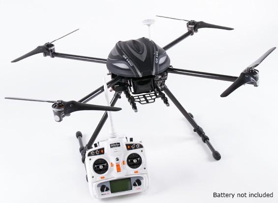 Walkera QR X800 FPV GPSクワッドローター、後退し、DEVO 10、ワット/バッテリ(モード2)アウト(フライする準備ができました)