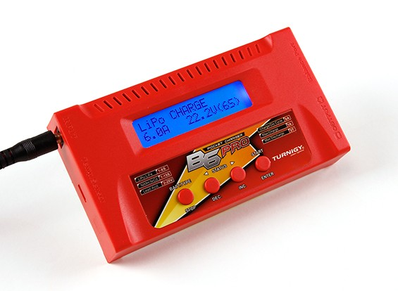 TurnigyのB6のPRO 50W 6Aのバランス充電器(レッド)
