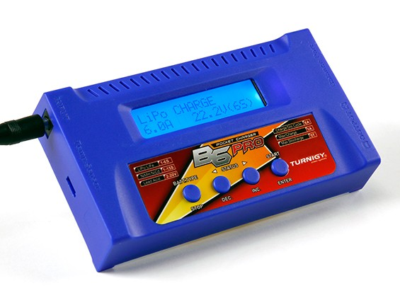 TurnigyのB6のPRO 50W 6Aのバランス充電器(ブルー)