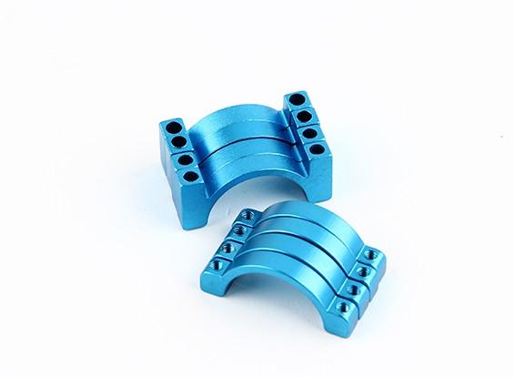 ブルーアルマイトCNC半円合金管クランプ(incl.screws)20ミリメートル