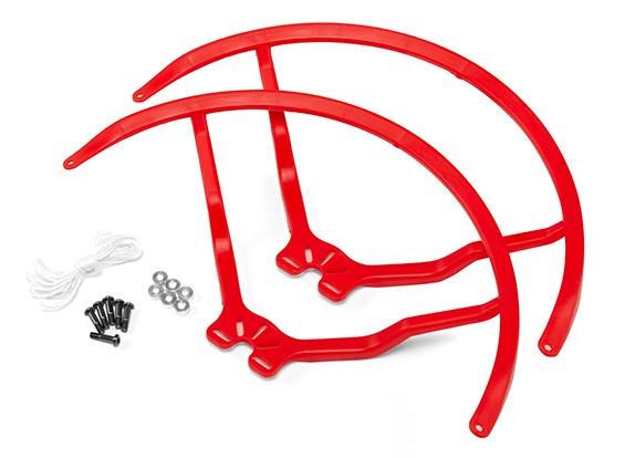 8インチのプラスチック製ユニバーサルマルチロータープロペラガード - レッド(2SET)