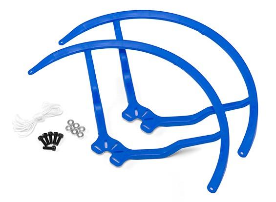 9インチのプラスチック製ユニバーサルマルチロータープロペラガード - ブルー(2SET)
