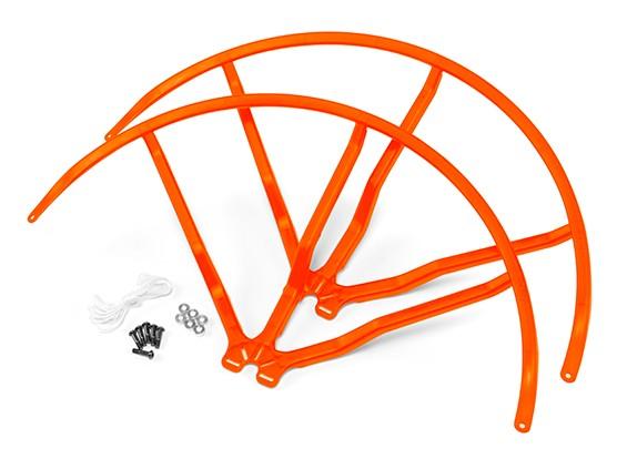 12インチのプラスチック製ユニバーサルマルチロータープロペラガード - オレンジ(2SET)