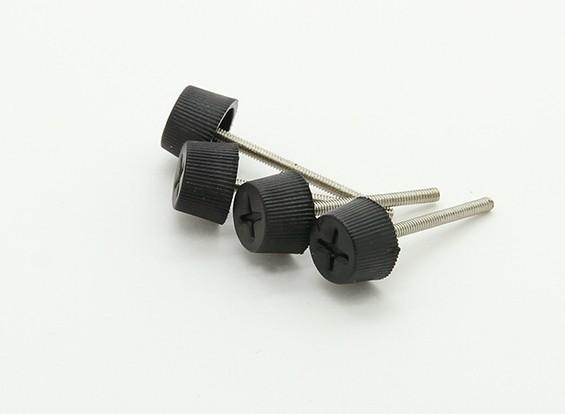 ジンバルのGoProマウントナイロンヘッドM2x20mmメタルつまみねじ(4本)