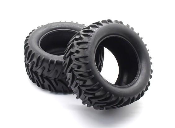 フロント/リアタイヤセット -  1/10 QuanumバンダルXL 4WDレーシングバギー(2個)