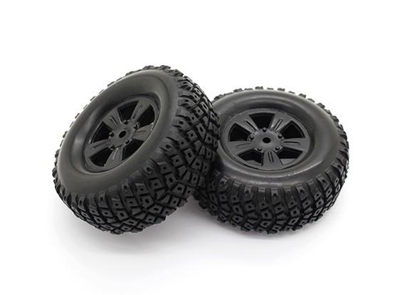 タイヤは設定 - バッシャーPBull 1/18 4WD砂漠のバギー(2個)