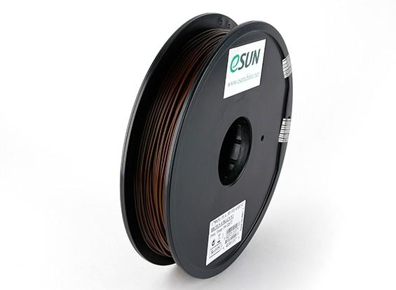 ESUN 3Dプリンターフィラメントブラウン1.75ミリメートルPLA 0.5KGスプール
