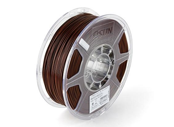 ESUN 3Dプリンターフィラメントブラウン1.75ミリメートルPLA 1KGロール
