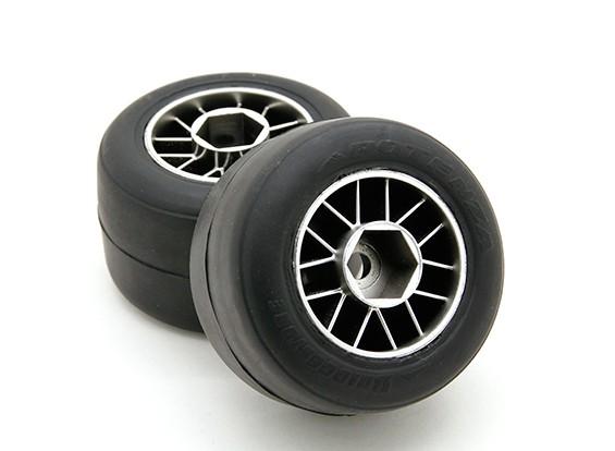 乗る前の集成F104リアR1ハイグリップコンパウンドスリックラバータイヤセット(2個)