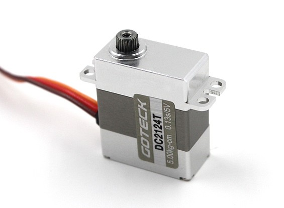 Goteck DC2124TデジタルMGメタルケース入りミニサーボ20グラム/ 5.8キロ/ 0.12sec
