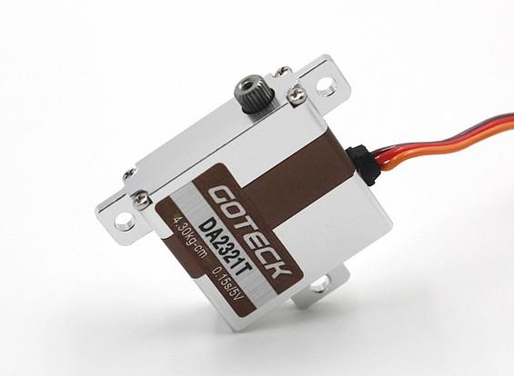 Goteck DA2321TデジタルMGメタルケース入りウイングサーボ23グラム/ 5.2キロ/ 0.12sec