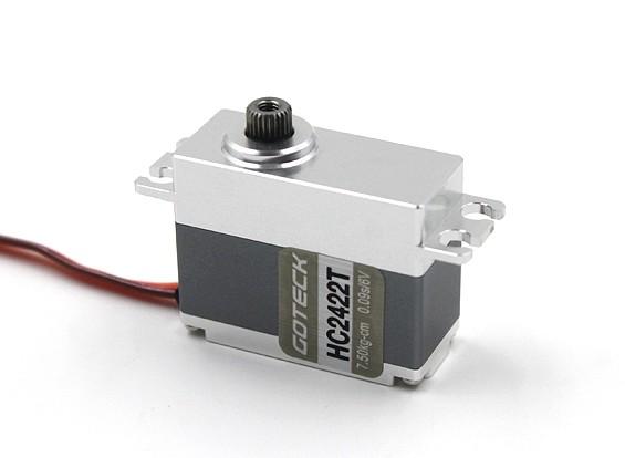 Goteck HC2422T HVデジタルMGメタルケース入りカーサーボ8.5キロ/ 0.08sec / 35グラム