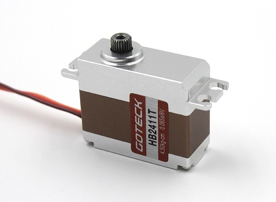 Goteck HB2411T HVデジタルブラシレスMGメタルケース入りカーサーボ5.5キロ/ 0.05sec / 35グラム