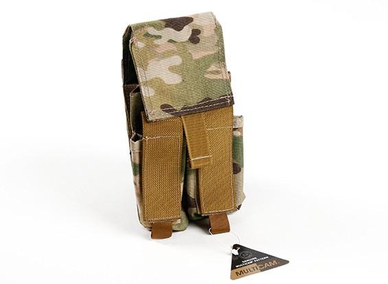 SWATモールダブルスタックマグポーチM4 /ピストル(マルチカム)
