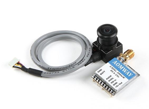 Aomwayミニ200mWのVTXとFPVチューン600TVLカメラコンボ(PAL)