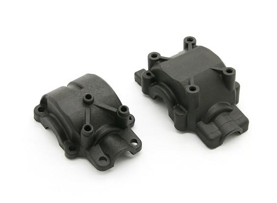 繊維強化リヤギアボックスケース -  BZ-444 Proは1/10 4WDレーシングバギー