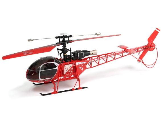 WLToys V915 2.4G 4CHヘリコプター(飛ぶために準備完了) - レッド