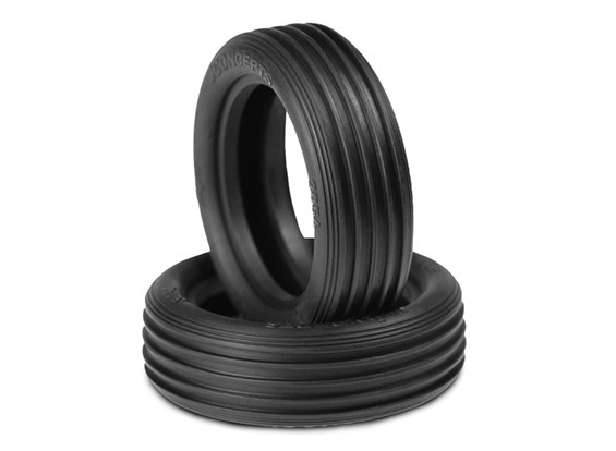 JCONCEPTSは、1/10 2WDバギーのフロントタイヤをリッピング - ゴールド(屋内ソフト)化合物